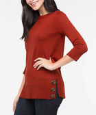 Boatneck Button Detail Sweater, Rust, hi-res