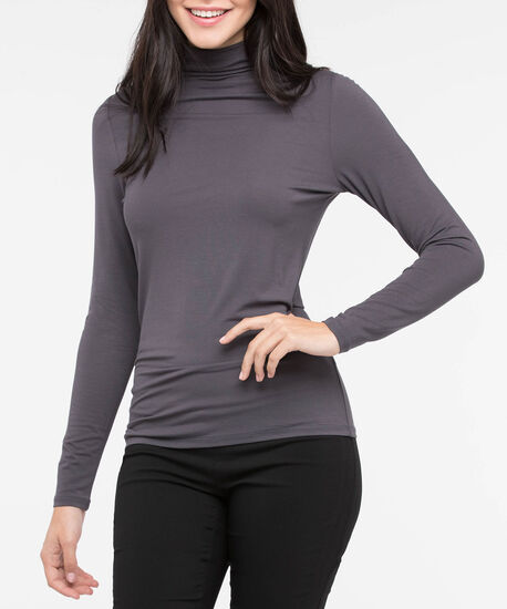 Long Sleeve Layering Essential Turtleneck, Grey, hi-res