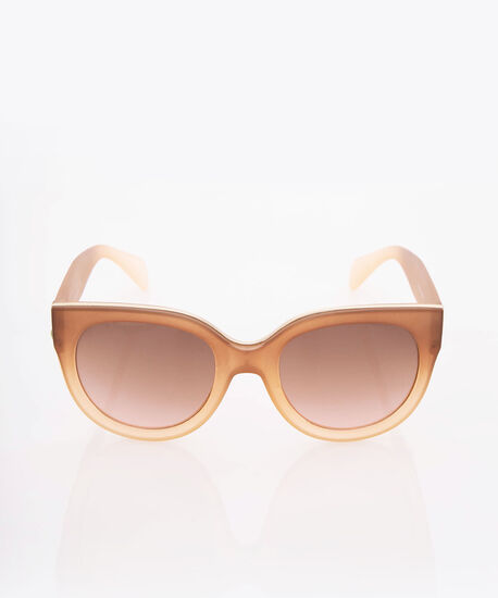 Ombre Cateye Sunglasses, Gold/Brown, hi-res