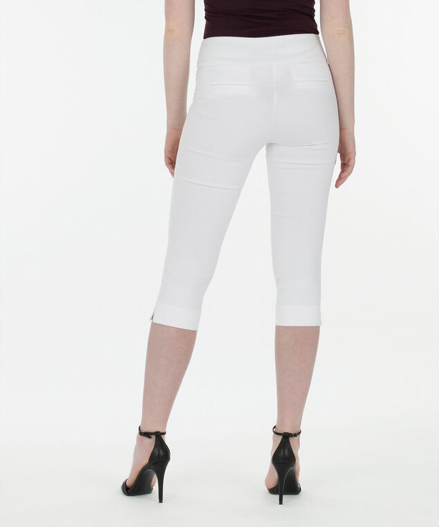 Microtwill Pull-On Capri, True White, hi-res