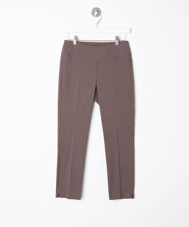 Microtwill Pull-On Crop, Praline, hi-res