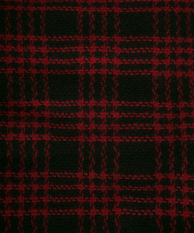 Plaid Square Blanket Scarf, Cherry/Black, hi-res