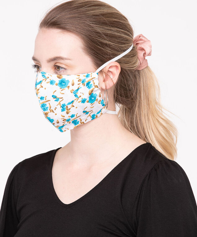 2 Pack of Face Masks, Light Blue/Pink/Lilac/White/Gold