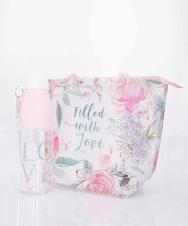 LOVE Grab-and-Go Lunch Set, White/Pink/Silver, hi-res