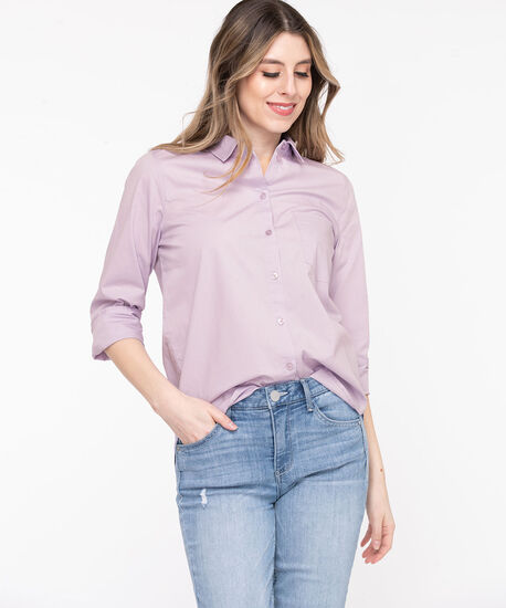 Classic Collared Button-Up Shirt, Orchid Petal, hi-res
