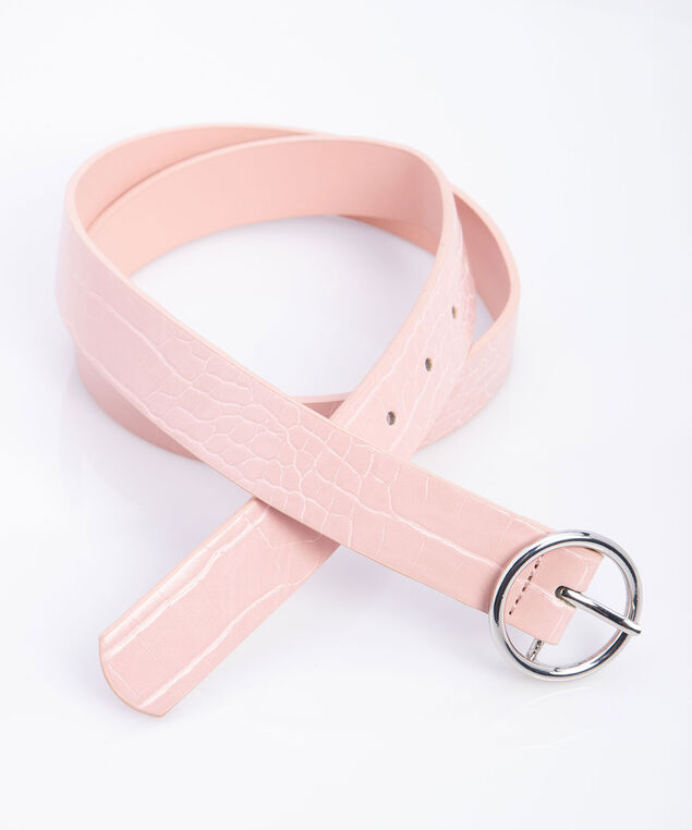 Croc Pant Belt, Blush/Silver, hi-res