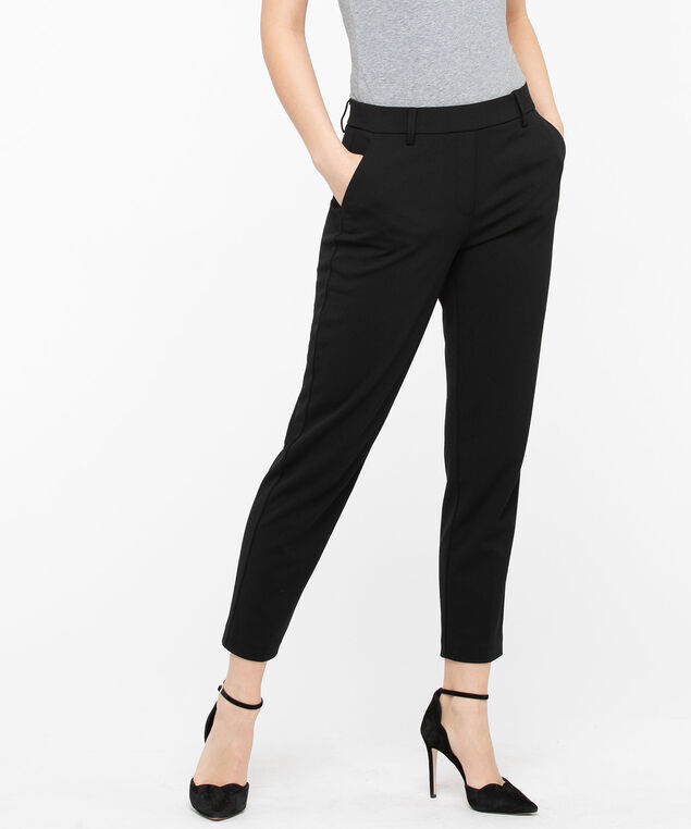 Scuba Crepe Pull-On Ankle Pant, Black, hi-res