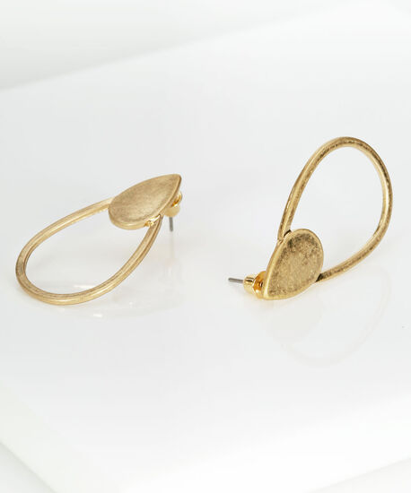 Gold Tear Drop Earring, Gold, hi-res