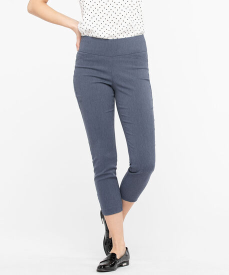 Microtwill Ladder Trim Crop, Heather Blue, hi-res