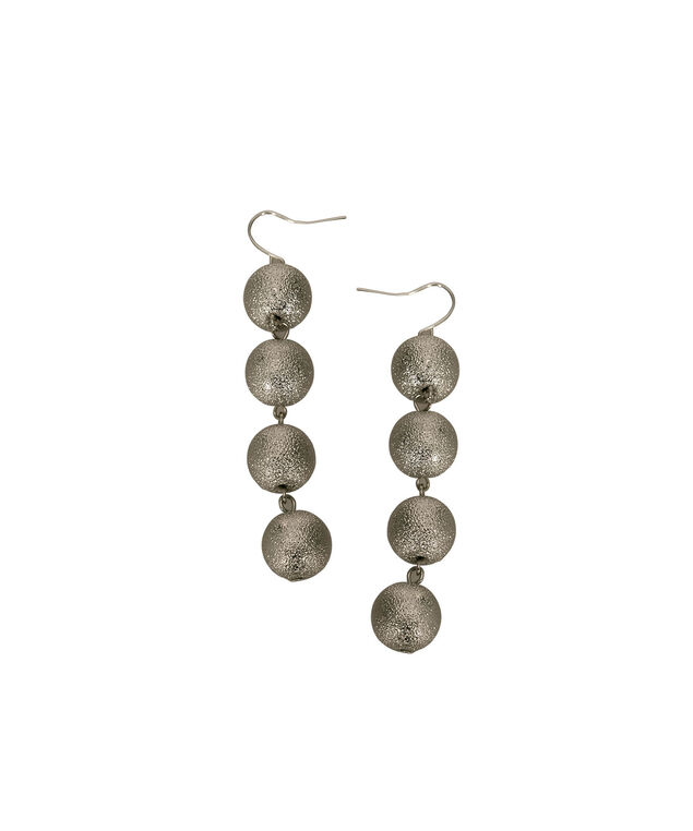 Sanded Silver Ball Drop Earring, Silver/Rhodium, hi-res