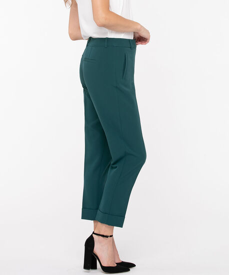 Slim Cuffed Ankle Pant, Teal, hi-res