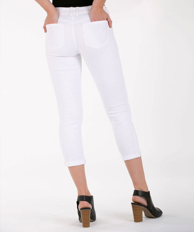 Fly Front Crop Jean, True White, hi-res