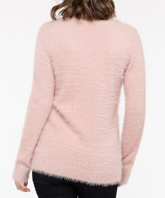 Wispy Llama Pullover Sweater, Dusty Blush/Pearl/Brown, hi-res