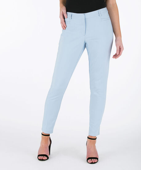 Double Weave Ankle Pant, Pastel Blue, hi-res