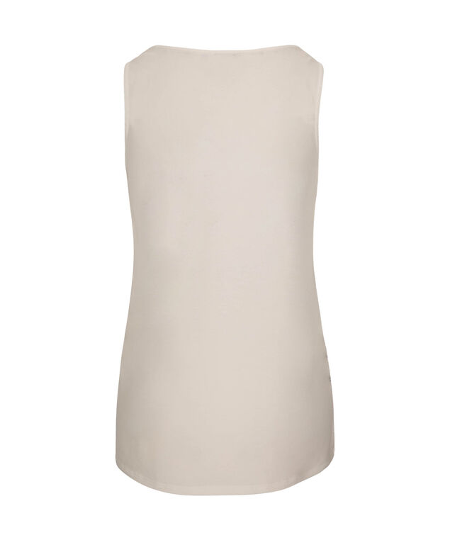 Textured Shell Sleeveless Top, Milkshake, hi-res