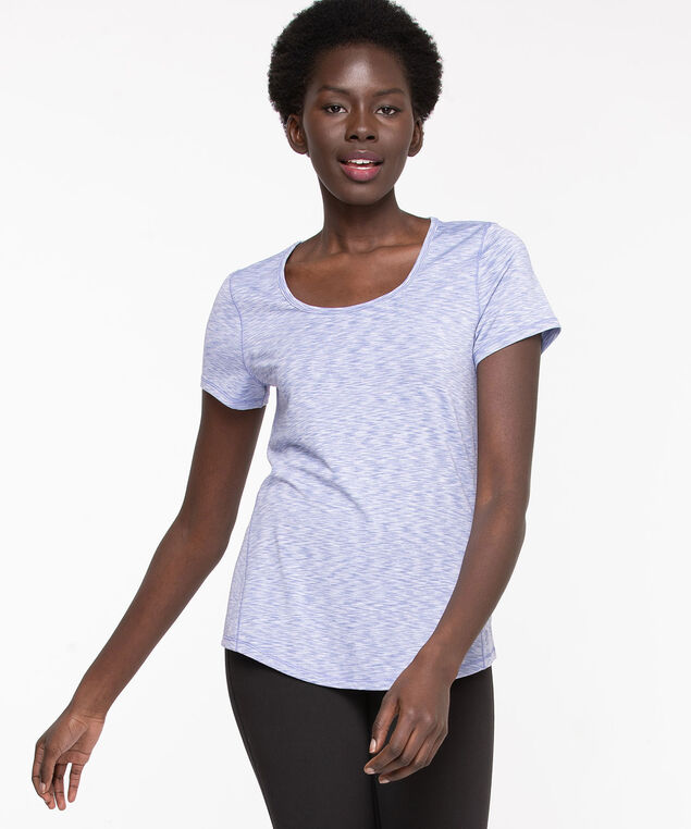 Mesh Back Activewear Tee, Heather Mix