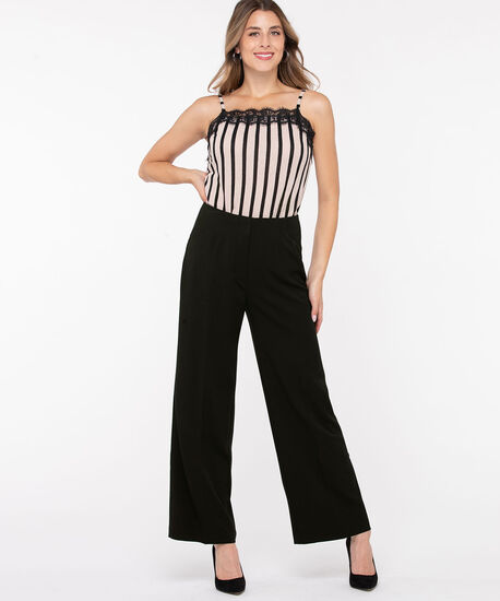 Tri-Blend Wide Leg Pant, Black, hi-res