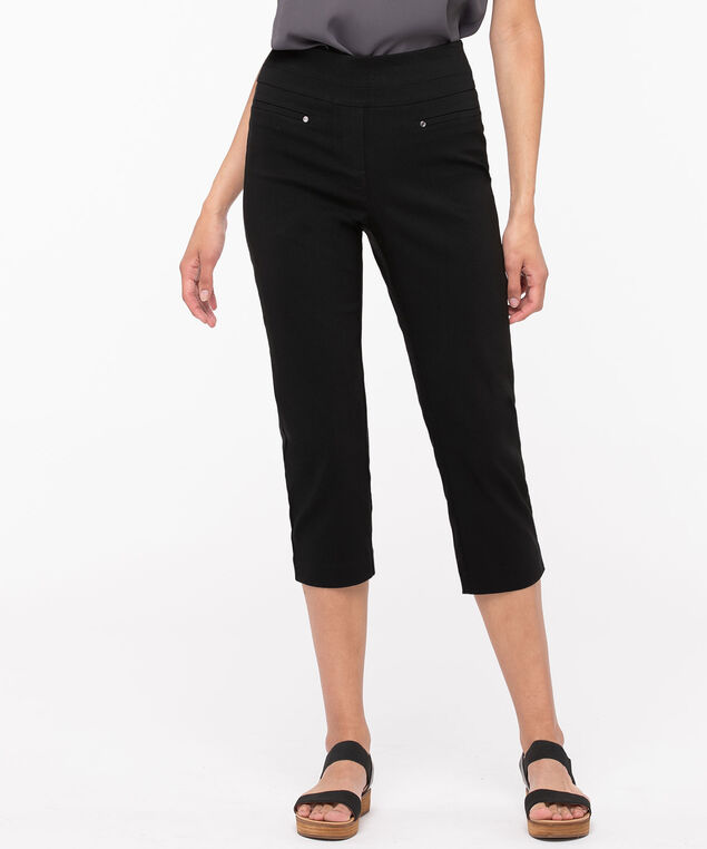 Microtwill High Rise Capri, Black, hi-res