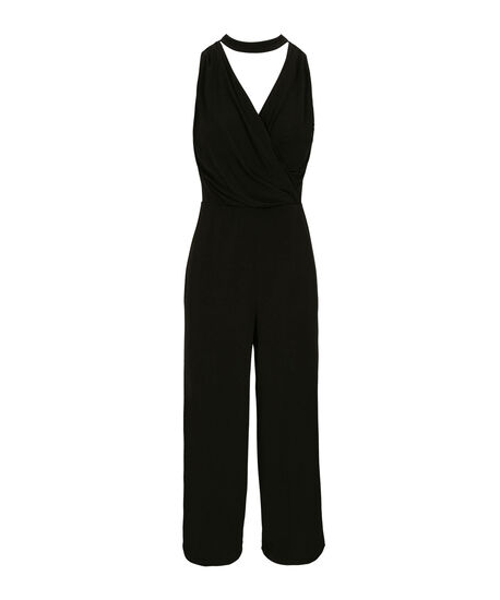 Choker Neck Jumpsuit, Black, hi-res