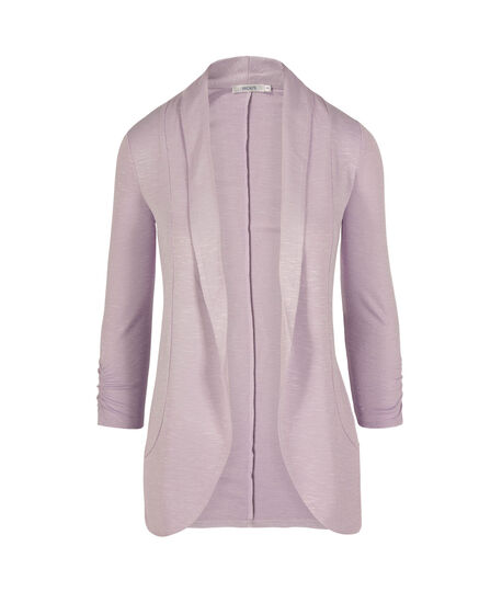 Shawl Collar Cardigan, Iced Violet, hi-res