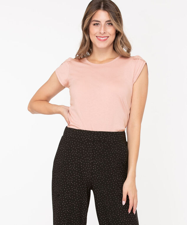 Petal Sleeve Scoop Neck Top, Soft Blush, hi-res