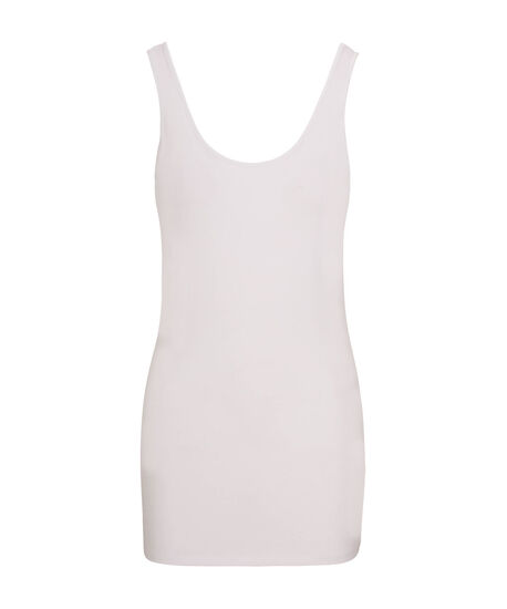 Tunic Length Cami, White, hi-res