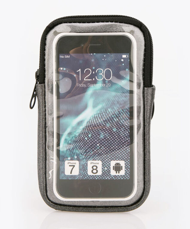 Arm Band Phone Case, Silver Grey/Black, hi-res