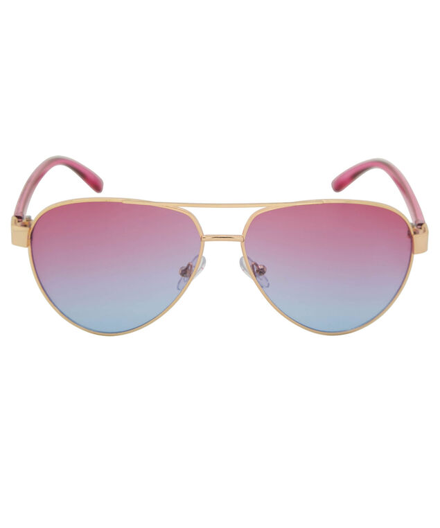 Ombre Sunset Aviator Sunglasses, Purple/Pink/Gold, hi-res