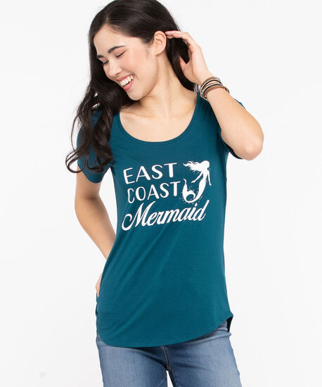 East Coast Scoop Neck Tee, Midnight Teal, hi-res