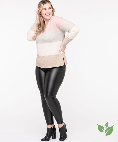 Eco-Friendly Colour Block Sweater, Misty Rose/Pristine/Grey/Camel, hi-res