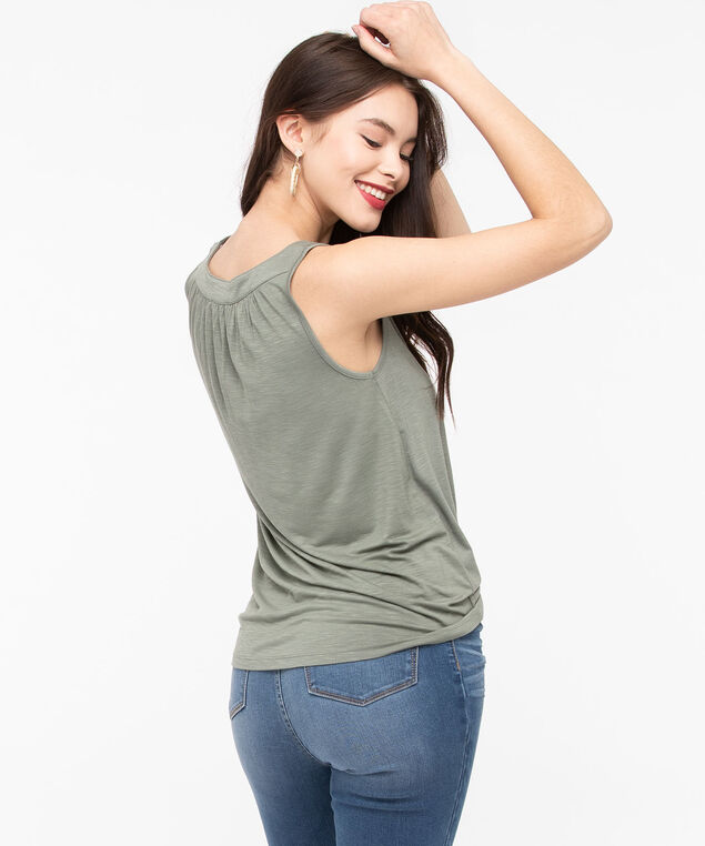 Easy Fit Tank, Thyme, hi-res