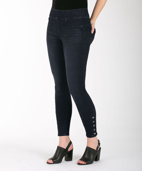 Snap Hem Ankle Jean, Dark Wash, hi-res