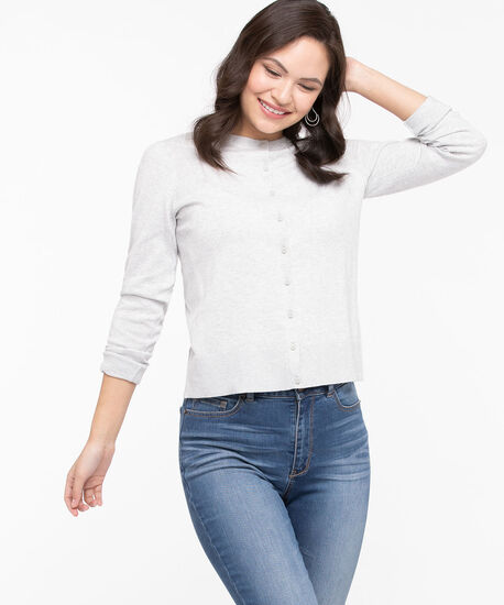 The Everyday Cardi, Light Heather Grey, hi-res