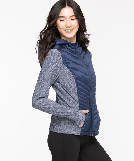 Quilted Athletic Jacket, Peacoat, hi-res