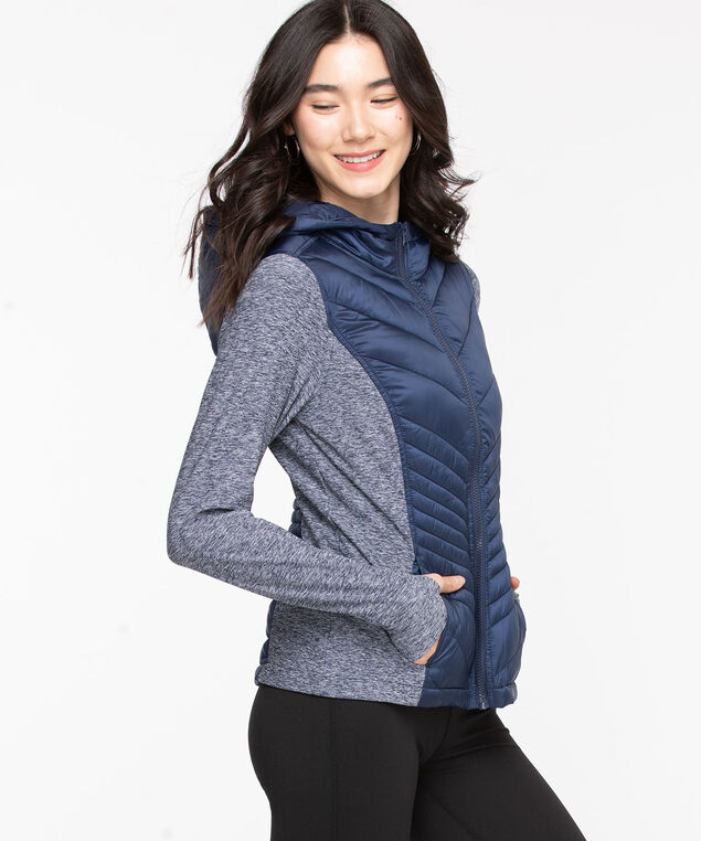 Quilted Athletic Jacket, Peacoat