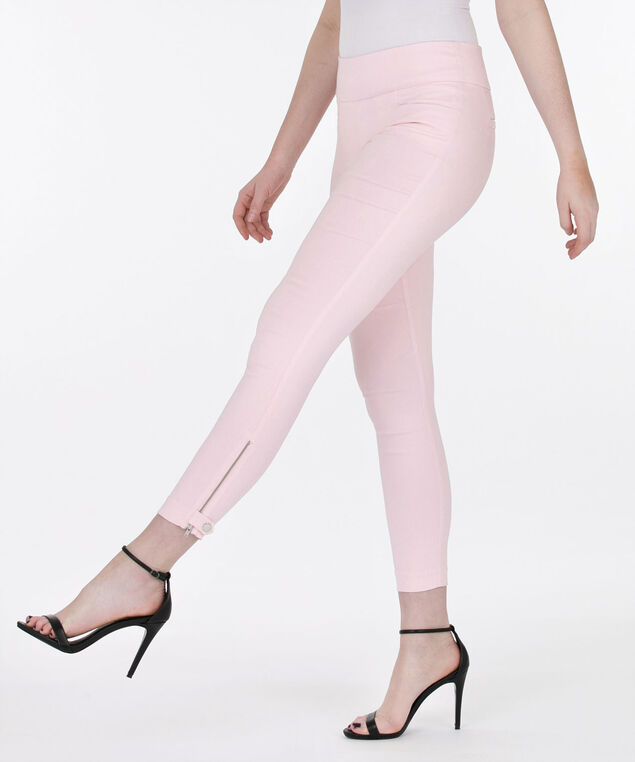 Microtwill Zipper Ankle Pant, Cameo Pink, hi-res