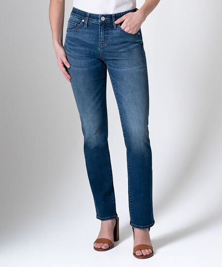 Ruby Mid Rise Straight Leg Jeans, Thorne Blue, hi-res