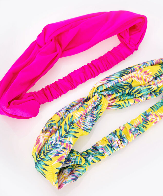 Knotted Headband Set, Bright Pink/Tropical Teal, hi-res