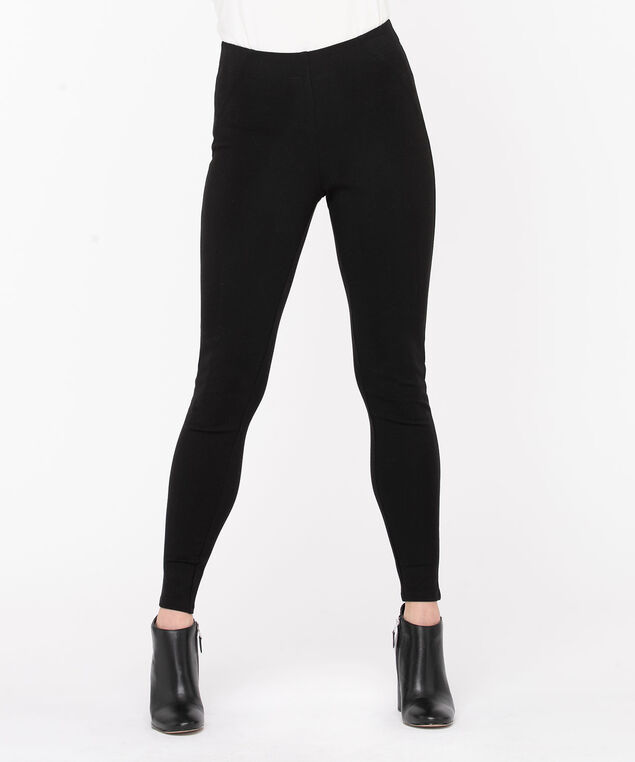 Black Luxe Ponte Legging, Black
