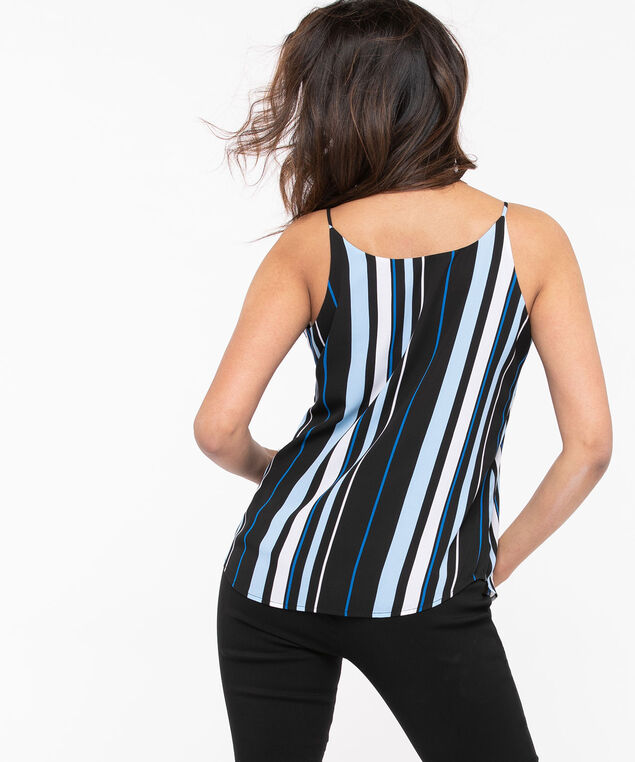 Reversible Layered Tank Blouse, Black/Azure/Pearl, hi-res