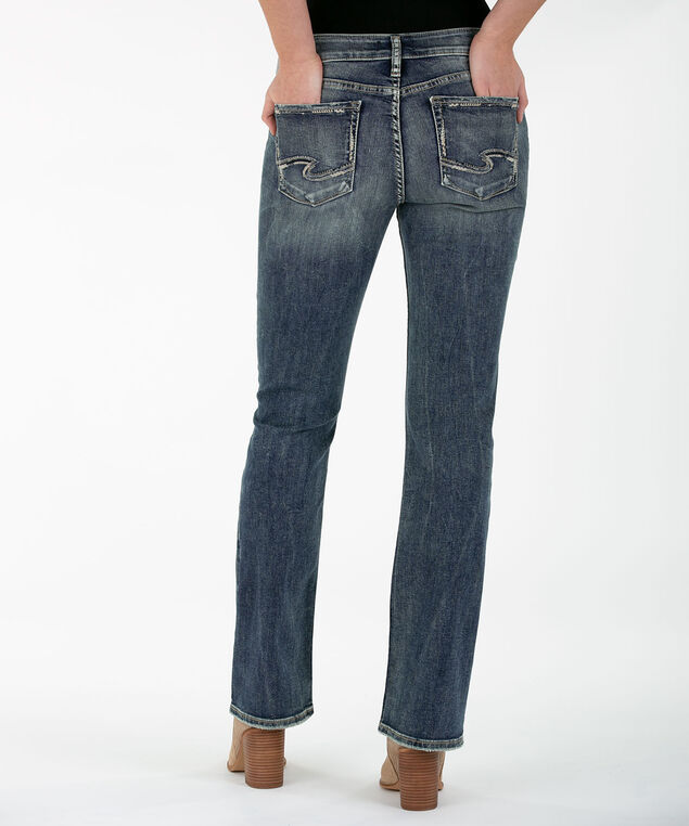 SILVER JEANS CO. ELYSE BootCut, Mid Wash, hi-res