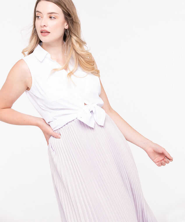 Pleated Midi Skirt, Lilac, hi-res