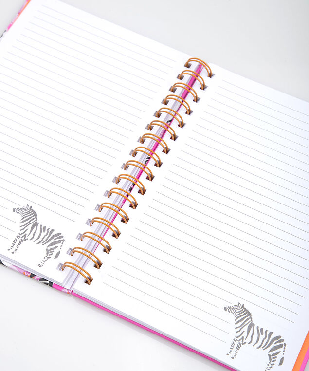 Be Bold Spiral Notebook, Bright Pink/Black/Pearl, hi-res
