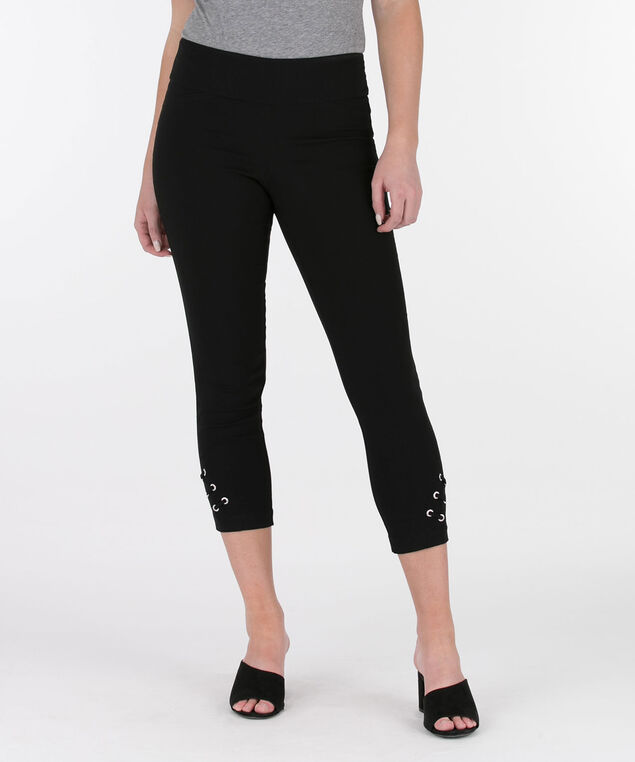 Diagonal Tab Microtwill Crop Pant, Black, hi-res