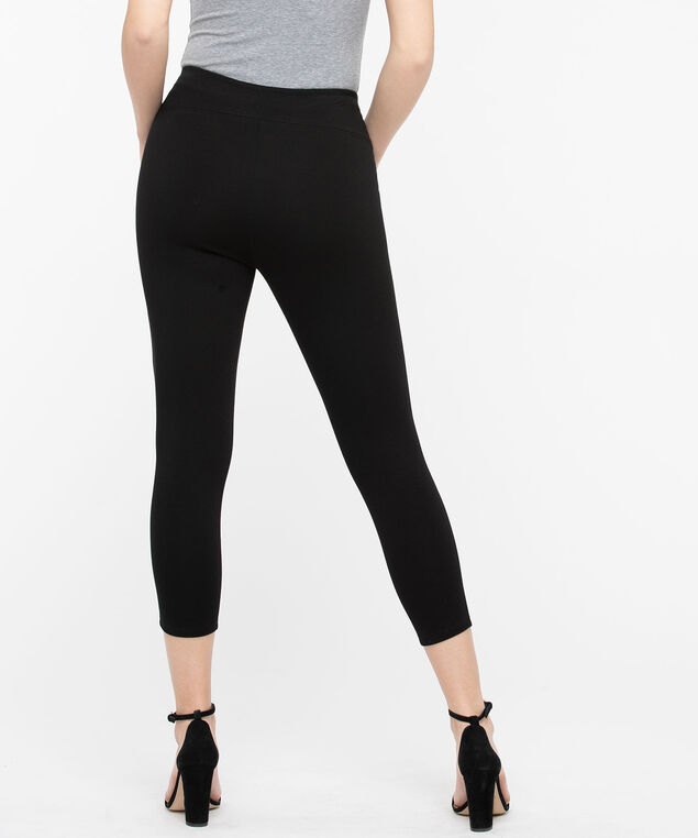 Luxe Ponte Crop Pant, Black, hi-res