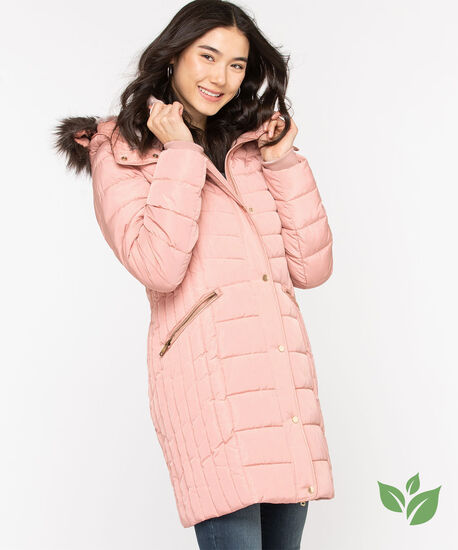 Thermolite® EcoMade Ribbed Puffer, Rose, hi-res