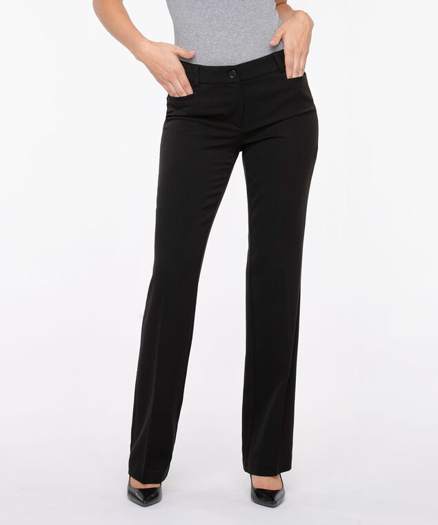 Tri-Blend Fly Front Trouser - X Long, Black, hi-res