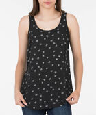 Scoop Neck Woven Layering Cami, Black/Pearl, hi-res