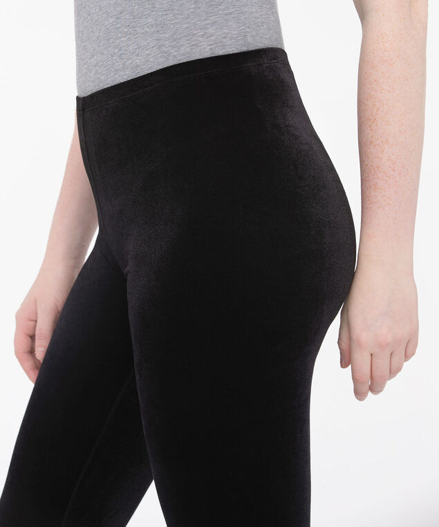 Black Velour Legging, Black, hi-res