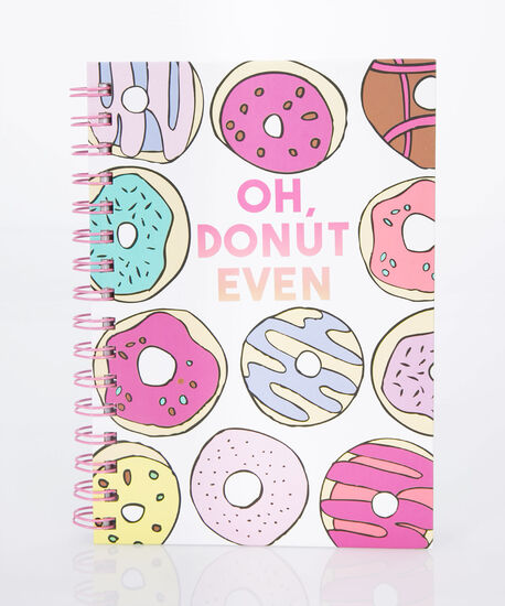 Oh, Donut Even Spiral Notebook, Cameo Pink/Soft Teal/True White, hi-res